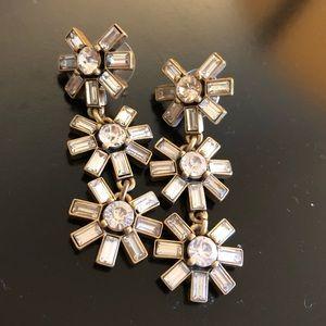 NWOT J. Crew Crystal Earrings